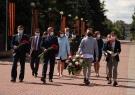 Делегация Чувашского госуниверситета возложила цветы к Вечному огню